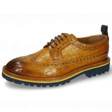 Derby shoes Matthew 23 Crock Indy Yellow Dark Finishing