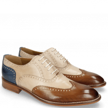 Derby shoes Kane 31 Nougat Natural Neptune Blue