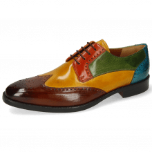 Derby shoes Jeff 14 Wood Yellow Winter Orange Ultra Green Turquoise