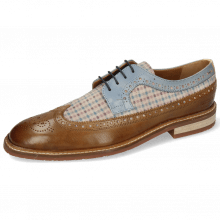 Derby shoes Logan 6 Venice Nougat Suede Mady Beige Vegas Moroccan Blue
