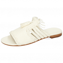 Mules Hanna 77 Woven Goat Lime Stone