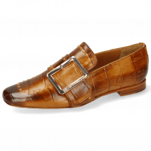 Loafers Luna 3 Imola Turtle Cognac Rivets Gold