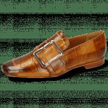 Loafers Luna 3 Imola Turtle Cognac Rivets Gold