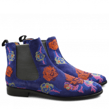 Ankle boots Roberta 8 Suede Royal Embrodery Multi Elastic Grey LS