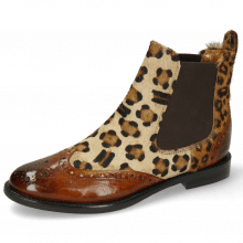 Ankle boots Selina 29 Wood Hairon Leo Cognac