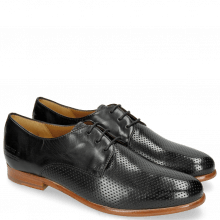 Derby shoes Selina 23 Perfo Black
