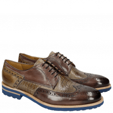 Derby shoes Johnny 1 Classic Stone Smog Baby Croco Smog Crip Blue