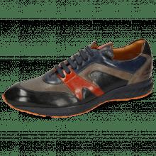 Sneakers Blair 9 Imola Black Navy Sweet Heart Nappa Glove Grey