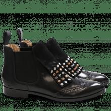 Ankle boots Jessy 23 Crust Crust Black Black Rivets Mixed Elastic Black HRS