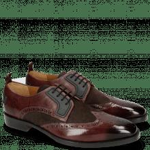 Derby shoes Jeff 32 Mokka Suede Pattini Brown