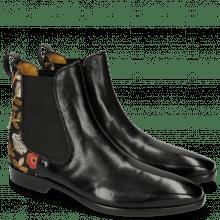Ankle boots Emma 8 Black Brocade Black