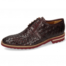 Derby shoes Brad 1 Woven Venice Deep Pink