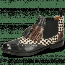 Ankle boots Selina 5 London Fog Stone Hairon Tweed Black White