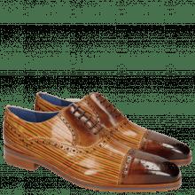 Oxford shoes Lewis 36 Tan Sand Lines Dark Brown
