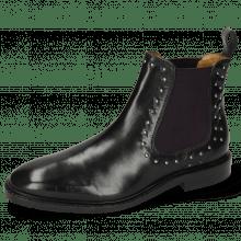 Ankle boots Katrin 3 Black Rivets Elastic Purple