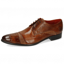 Derby shoes Toni 39 Crock Wood Dice Tortora Guanna Tan Ostrich Baby Croco Lizzard