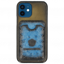 iPhone case Twelve Vegas Olive Wallet Mid Blue