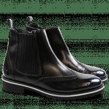 Ankle boots Esther 3 Brush Metalic Blue Elastic Black WL Black Welt White
