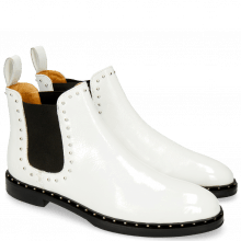 Ankle boots Susan 37 Soft Patent White Rivets
