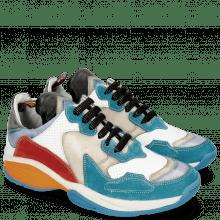 Sneakers Flo 1 Suede Pattini Aqua Milled Perfo White Light Grey Suede Pompe