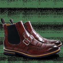 Ankle boots Eddy 20 Burgundy Elastic Navy