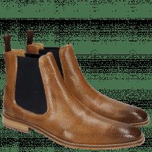 Ankle boots Martin 6 Venice Perfo Tortora Elastic Navy
