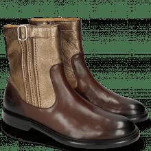 Ankle boots Sally 85 Mogano Nappa Aztek Bronze Rivets