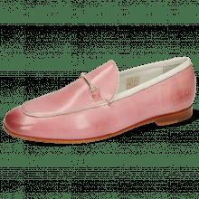 Loafers Scarlett 47 Venice Pisa Rosa Nappa White Trim Gold