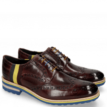 Derby shoes Eddy 38 Burgundy Strap Multi