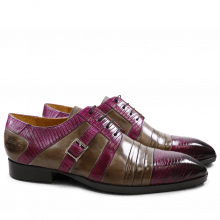 Derby shoes Ricky 2 Guana Crust Eggplant Smoke LS Black