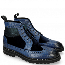 Ankle boots Matthew 9 Crock Midnight Blue Velluto
