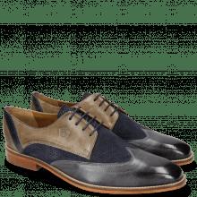 Derby shoes Martin 7 Berlin Lima Perfo Navy Grigio