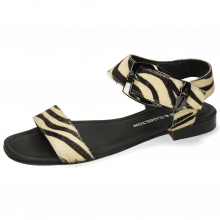 Sandals Nikita 7  Hairon Zebra Black White Sword