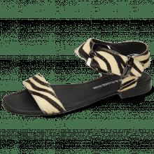 Sandals Nikita 7  Hairon Zebra Black White Sword