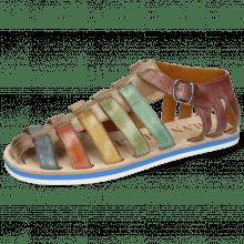Sandals Sam 3 Digital Wind Earthly Olivine Bio Algae Purple Tentacle