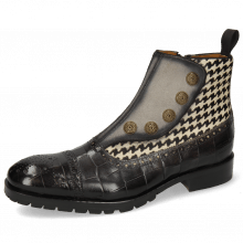 Ankle boots Patrick 22 Turtle London Fog Suede Pattini Marmotta Hairon Tweed Black White