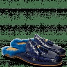 Mules Clive 5 Crock Mid Blue Tassel Mid Blue