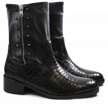 Ankle boots Elaine 18 Crock Nappa Black Washed Black HRS