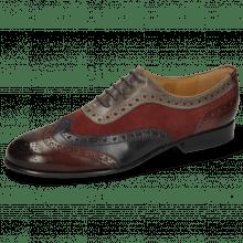 Oxford shoes Sally 97 Wine Navy Sheep Suede Wine Grigio