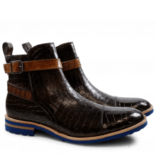 Ankle boots Eddy 9 Crock Dark Brown Strap Tortora Crip Blue