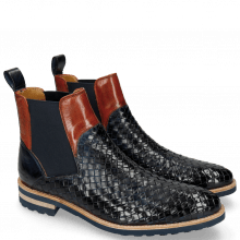 Ankle boots Brad 9 Woven Navy Orange Aspen Navy