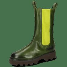 Boots Megan 14 Imola Ultra Green Elastic Ribbed Light Green