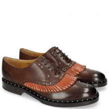 Oxford shoes Sally 75 Mogano Winter Orange Rivets