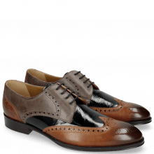 Derby shoes Kane 5 Tan Grigio Soft Patent Oriental