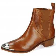 Ankle boots May 1 Venice Tan Toe Cap Gunmetal