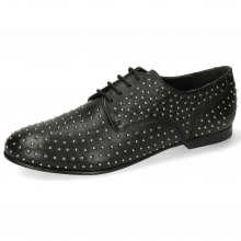 Derby shoes Sonia 10 Nappa Black Rivets