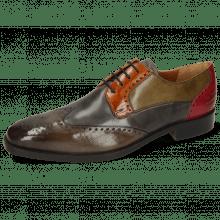 Derby shoes Jeff 14 Dark Brown Grigio Winter Orange Light Grey Pink
