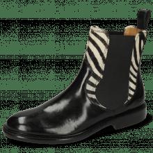 Ankle boots Sally 113 Imola Black Hairon Young Zebra Black White