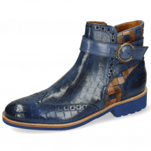 Ankle boots Amelie 67 Crock Electric Blue Woven Multi