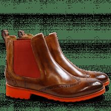 Ankle boots Amelie 5 Crust Wood Elastic Orange Rook D Orange